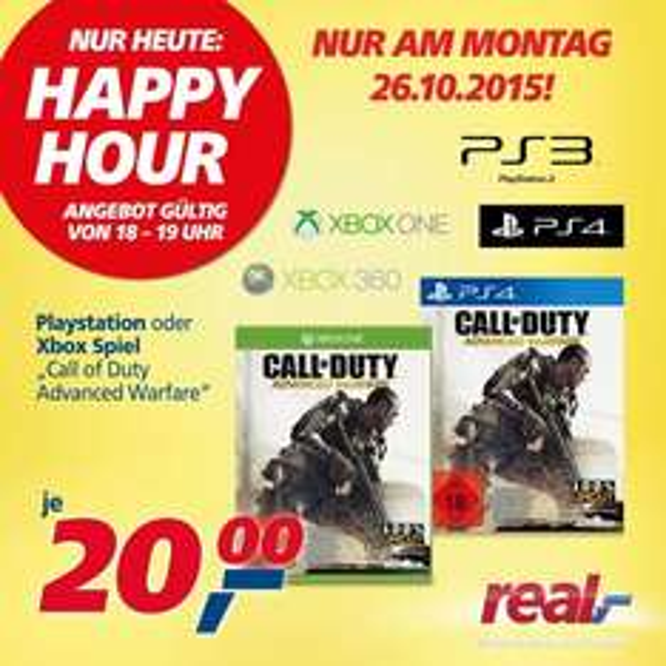 [OFFLINE] Call of Duty: Advanced Warfare für Konsolen bei real,- eine Stunde lang für 20€