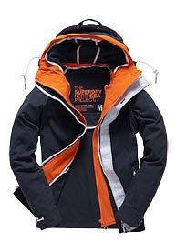 Herren Superdry Double Atlantic Jacke Blau @ ebay superdry-store für 64,95€