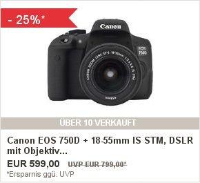 «ebay» Spiegelreflexcamera * Canon EOS 750D + 18-55mm IS STM, DSLR mit Objektiv
