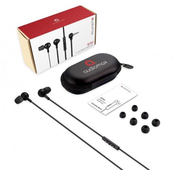 AUDIOMAX E701 In-Ear Stereo Kopfhörer mit MFi-Anschlusskabel (für IOS) [Amazon Prime]