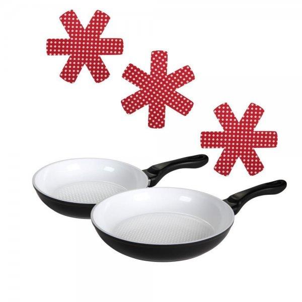 culinario 5-teiliges Pfannenset Crispy Joy mit Ø 20 und 28 cm + 3x Pfannenschutz, 19,99 EUR @ ebay