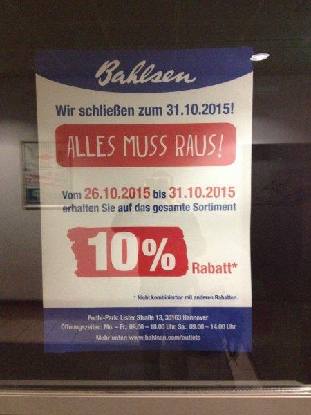 (Hannover) Bahlsen Fabrikverkauf -10%