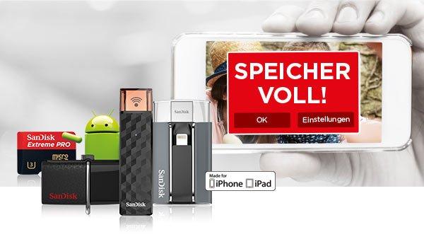[Saturn] Sandisk USB-Sticks, SSDs, SD-Karten & mehr, wie: SanDisk Ultra 128GB USB 3.0 Stick für 25,37€ oder SanDisk Extreme 64GB USB 3.0 Stick für 33,99€ [auch teilweise bei Amazon]
