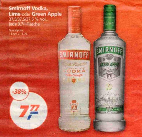 [REAL] KW45: Smirnoff Vodka, Lime oder Green Apple 37,5% 0,7l für 7,77€ (02.-07.11.) bzw. 7,47€ am Mittwoch 04.11.