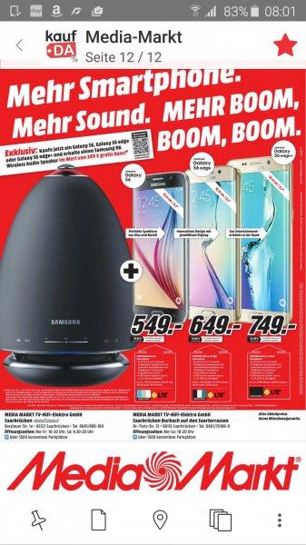 MM Bundesweit - Samsung S6/S6 Edge kaufen und ein Samsung R6 Gratis dazu
