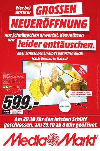 [Lokal Kassel] Samsung UE55JU6050 - 599€ Media Markt 138 cm (55 Zoll) Fernseher (Ultra HD, Triple Tuner, Smart TV) [Energieklasse A+]