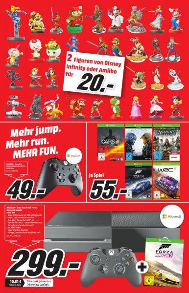 Microsoft XBOX One 500 GB Forza Horizon 2 Bundle + 2. Controller + Spiel nach Wahl - MM Porta Westfalica (Minden) - 299€