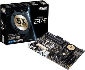 [Comtech] ASUS Z97-E ATX-Mainboard (Sockel 1150, 4x PC3-12800, 4x SATA, 6x USB 3.0, CrossFireX, SLI, M.2, SATA Express, 7.1 Onboard) für 79,90€