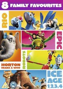 Ice Age 1 - 4, Robots, Rio, Epic und Horton 8 DVDs Blue Sky-Box O-Ton? 9,85 Euro