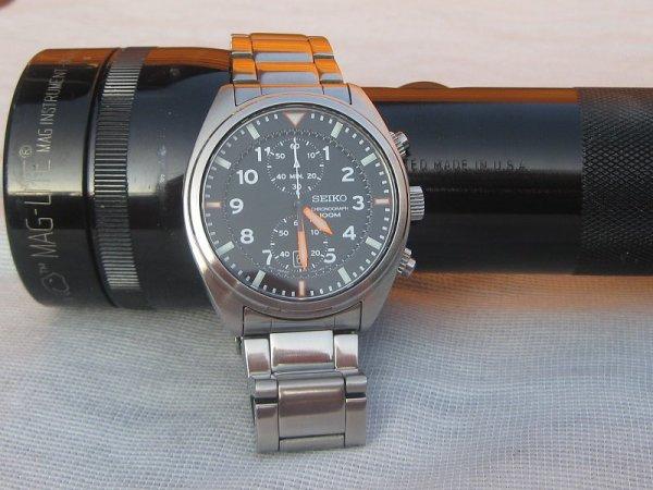 Seiko Herren-Einsatzuhr   Chronograph Quarz Edelstahl SNN235P1