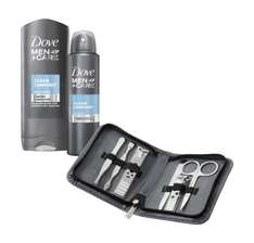 [Amazon.de-Prime] Dove MEN+CARE GeschenkpackClean Comfort: Pflegedusche, Anti-Transpirant Deospray und Nagelset