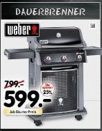 [Segmüller] Weber Spirit E-320 Classic Black - noch günstiger mit Bauhaus Tiefpreisgarantie (EUR 527,12)