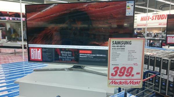 Lokal Mediamarkt Augsburg Oberhausen 399 Euro Samsung 48 J 5670 SUXZG