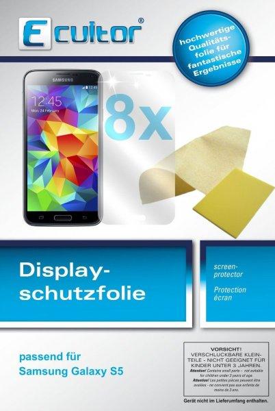 8x Samsung Galaxy S5 Schutzfolie  Displayschutzfolie klar @ebay 1€