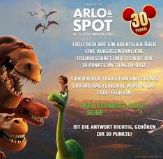 "30 Disney Movies and More Punkte im ""Arlo & Spot"" Trailerquiz"