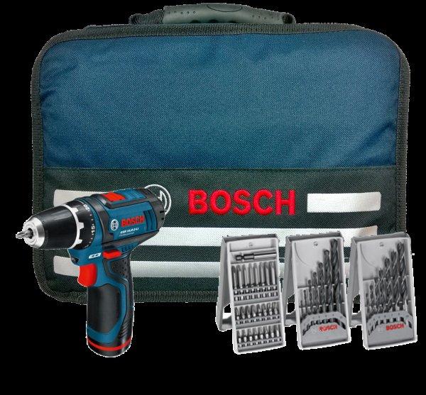 BOSCH Akku Bohrschrauber GSR 10,8-2-Li 10,8 Volt mit 2 Akkus in Softbag