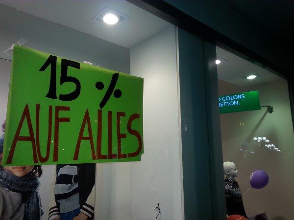 [Lokal Bonn] 15 % auf alles bei United Colors of Benetton