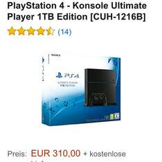 PS4 1TB 1216B Version 310€