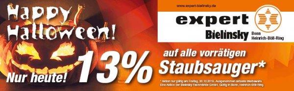 [Lokal Expert Bonn] NUR HEUTE 13% auf alle vorrätigen Staubsauger