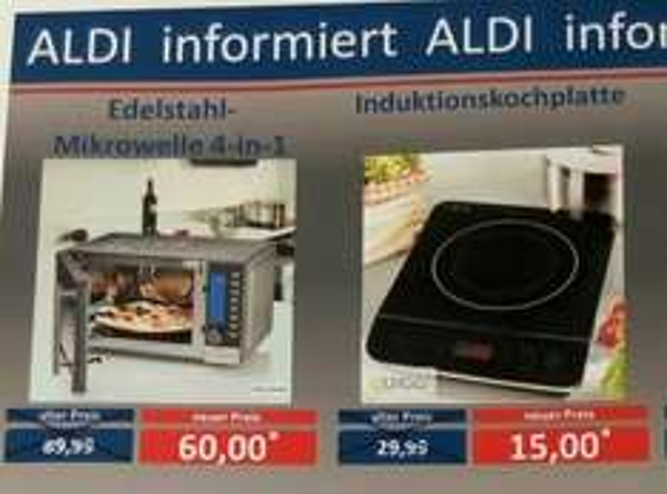 ALDI Dresden ( Seidniz ). LIFETEC Mikrowelle 4- in -1.