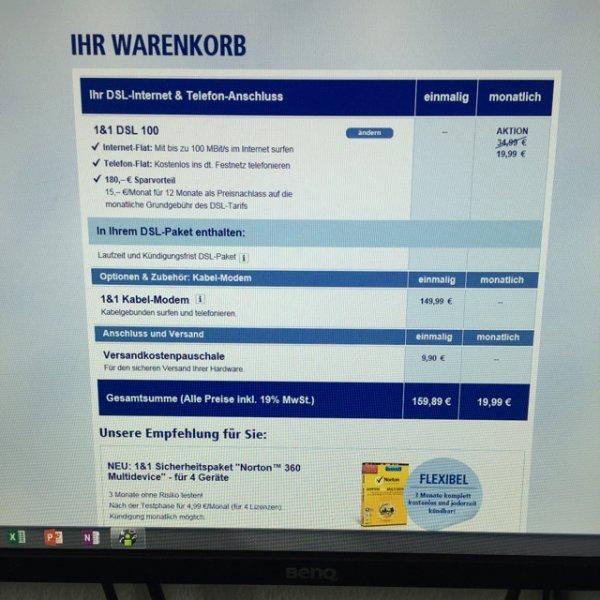1&1 DSL 100.000 für dauerhaft 19,99€ ohne Mindestlaufzeit!