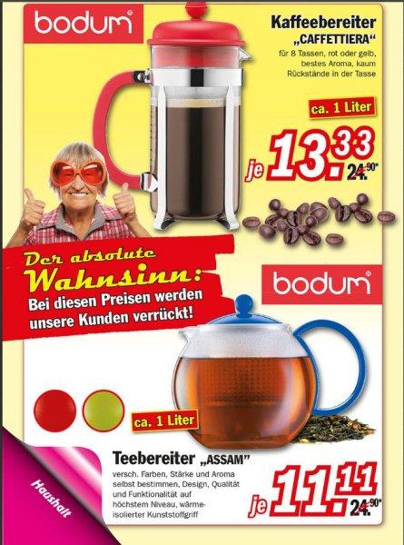 (Zimmermann) Bodum Caffettiera 1L für 13,33€ und Assam 1L für 11,11€