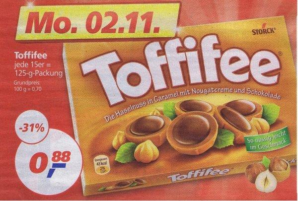 Toffifee für 0,88 Euro am 2.11 als Real Tagesdeal