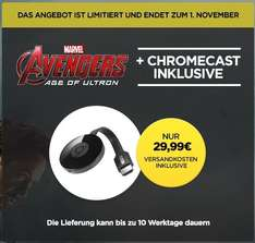 Chromecast 2 + Age of Ultron für 29,99 [Wuaki.tv]