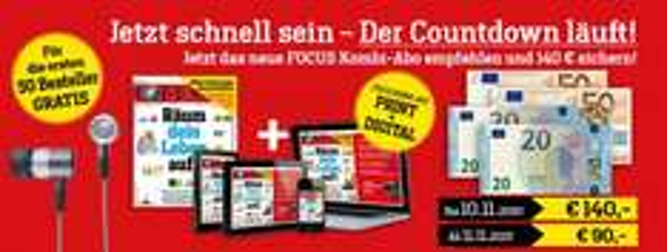 Focus Print & Digital Jahresabo für 83,60€