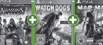 PS4 1T Edition + 3 Games @ Alphatecc Märkten