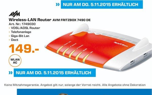 (Lokal) AVM FRITZ!Box 7490 für 149€ @ Saturn Wuppertal Tagesangebot 05.11.15