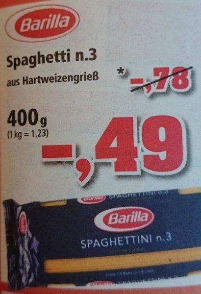 [Thomas Philipps] Barilla Spaghetti n.3 (400g) für 0,49 € (1,23 €/kg)