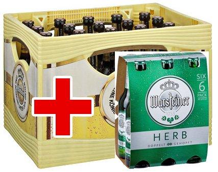 [Kaufland BY / BW] ab 02.11.15: Kiste Warsteiner 20x 0,5l für 10,-€ + Sixpack Herb gratis!
