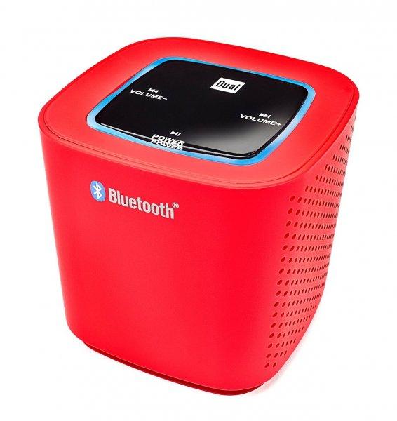 [Amazon.de-Prime] Dual BTP 100 Portabler Bluetooth Lautsprecher (2x 2 Watt, AUX-IN, Bluetooth-Streaming, Power-LED-Anzeige) mit Akku für Smartphone/Tablet/Notebook rot