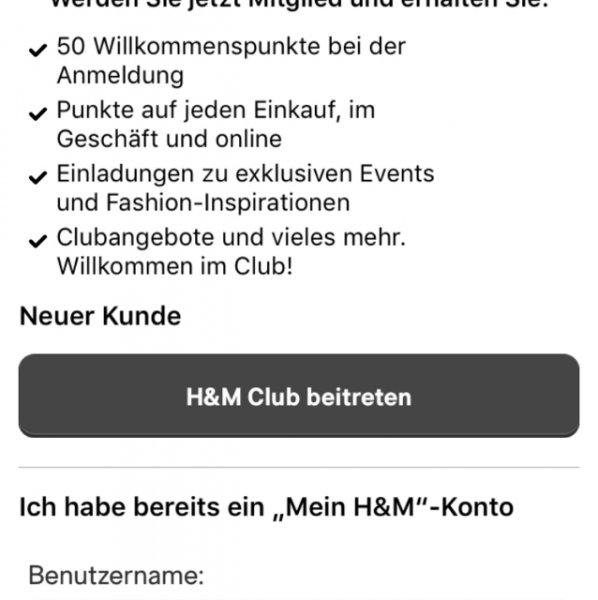 20 % Rabatt bei H&M (on- und offline)