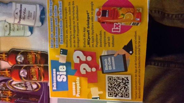 [trinkgut]1 Edeka Tropical Directsaft für kurze Umfrage per App MCprofi trinkgut