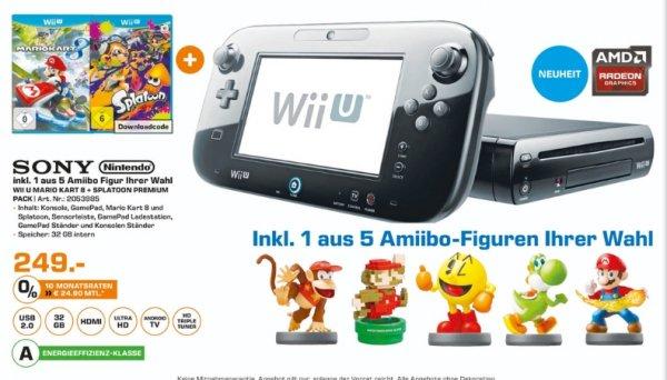[Lokal Saturn Jena] Tagesangebot am 04.11...Nintendo Wii U Mario Kart 8 + Splatoon Premium Pack + 1 Amiibo Figur nach Wahl (aus 5 Stück) für 249,-€