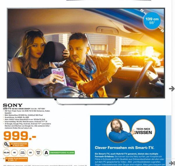 (Lokal) SONY KD55X8505 CBAEP für 999€ @ Saturn Ludwigshafen