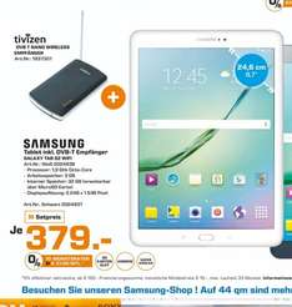 (Lokal)Samsung Galaxy Tab S2 9.7+DVB-T Empfänger für 379€ @ Saturn Bremen