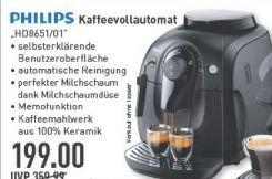 [Marktkauf Münster] Philips HD8651/01 Kaffeevollautomat ab 5.11. für 199€ (Idealo: 282€)