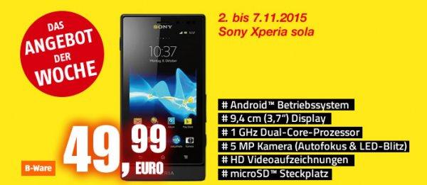 [B-Ware] Sony Xperia Sola im Werksverkauf von  Medion in Essen