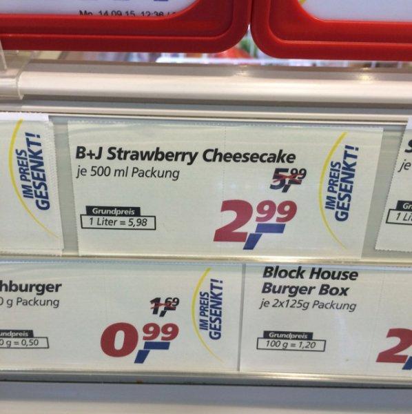 [lokal?] Ben&Jerrys strawberry cheescake abverkauf