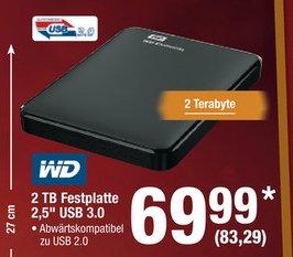 [METRO] Western Digital Elements Portable 2TB 2,5 Zoll USB 3.0 für 83,29 (Brutto)