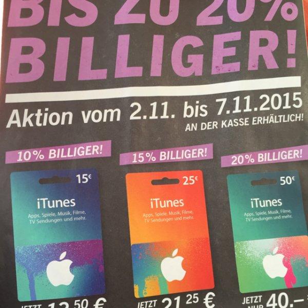 iTunes-Geschenkkarten bis zu 20% Rabatt bei Lidl