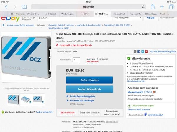 OCZ Trion 100 480 GB 2,5 Zoll SSD