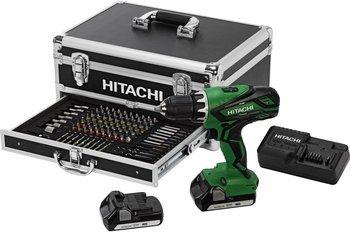 "[ZackZack] Hitachi Akku-Schlagbohrschrauber ""DV 18DJL"" + Bitset 100-teilig, inklusive Hitachi-Alu-Koffer für 174,85€ inc. Versand"