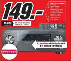 [Lokal Mediamarkt Porta] Pioneer VSX-329-K 5.1 AV Receiver (105 Watt pro Kanal, 4K Ultra HD Passthrough, HDMI 2.0, USB 2.0, ECO-Mode) schwarz für 149,-€