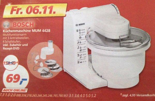 [Real] Bosch Küchenmaschine MUM 4428 für 69€ am 06.11.2015