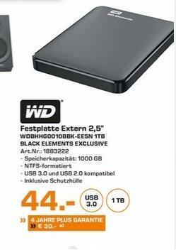 "(lokal)WD Elements Portable 1TB 2,5"" für 44€ @ Saturn Duisburg"