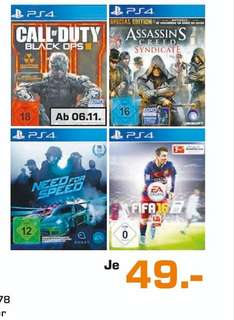 (lokal) Call of Duty: Black Ops 3 (PS4) für 49€ @ Saturn Duisburg